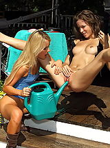 malena morgan 01 gardener wet girls pussy pics watering can in vulva